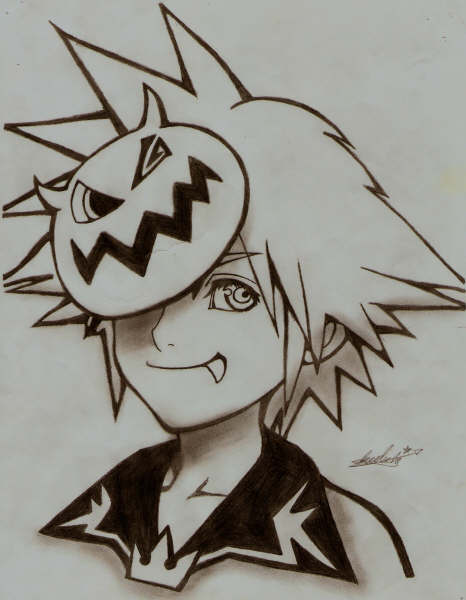 Nightmare Before Christmas Sora.Creative Uncut Video Game Fan Art Artist Page