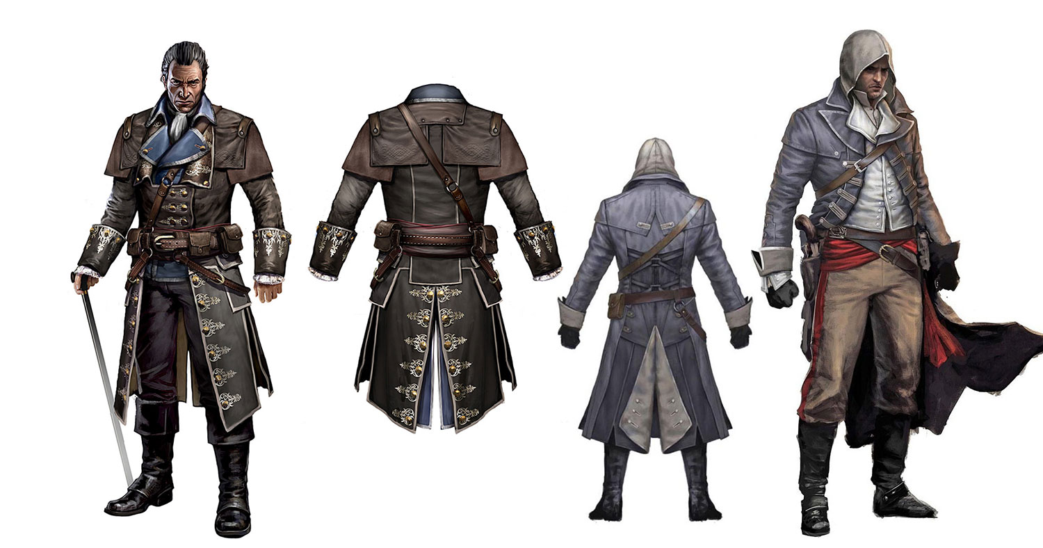 Assassin S Creed Rogue Concept Art Characters