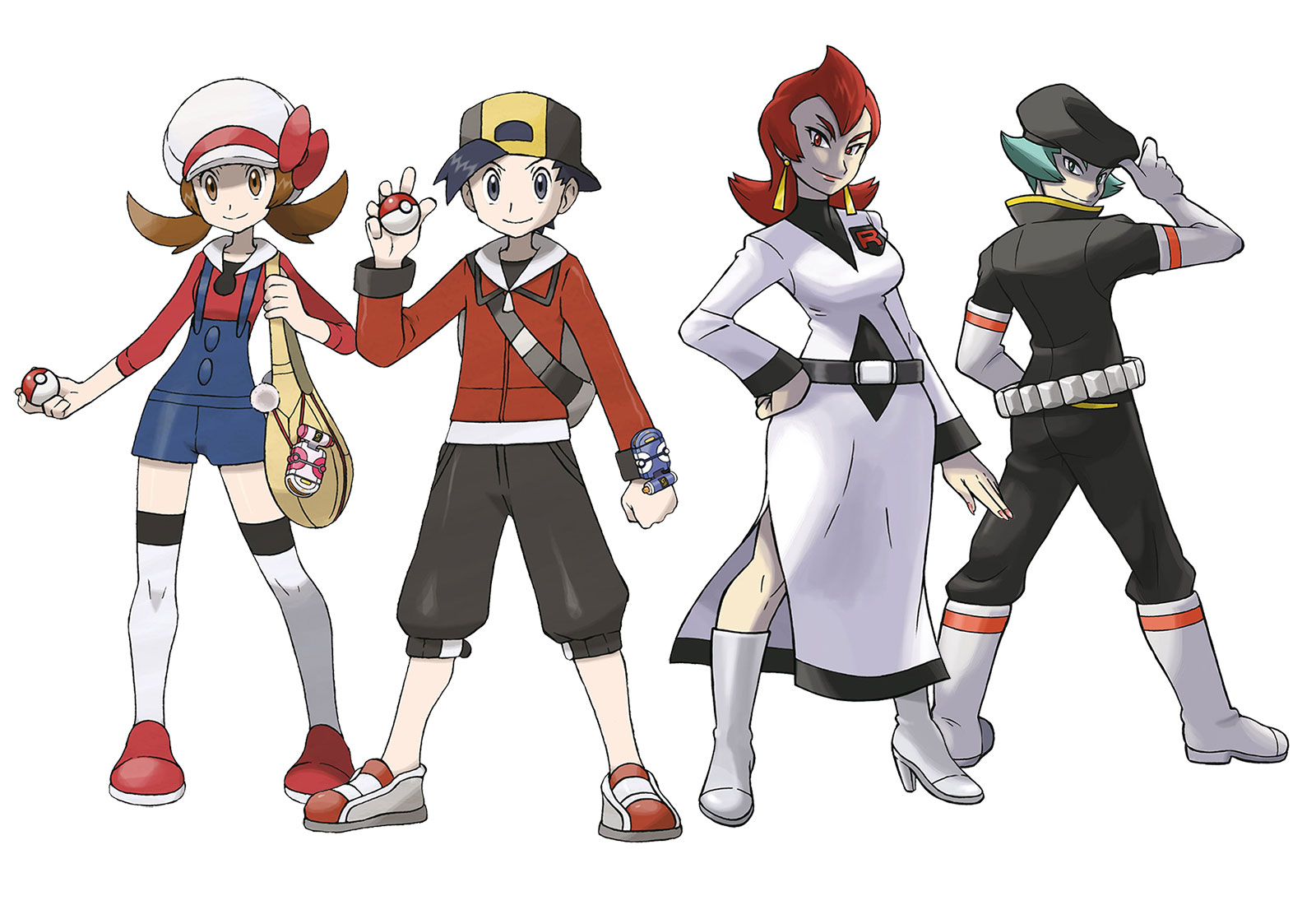 Pokémon HeartGold and SoulSilver Concept Art & Characters