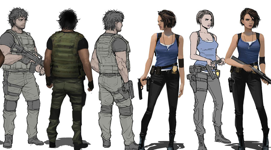 Resident Evil 3 2020 Remake Concept Art Characters