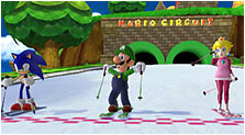 Mario & Sonic at the Olympic Winter Games Art & Characters Pictures