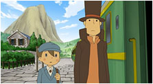 Professor Layton and the Diabolical Box Art & Characters Pictures